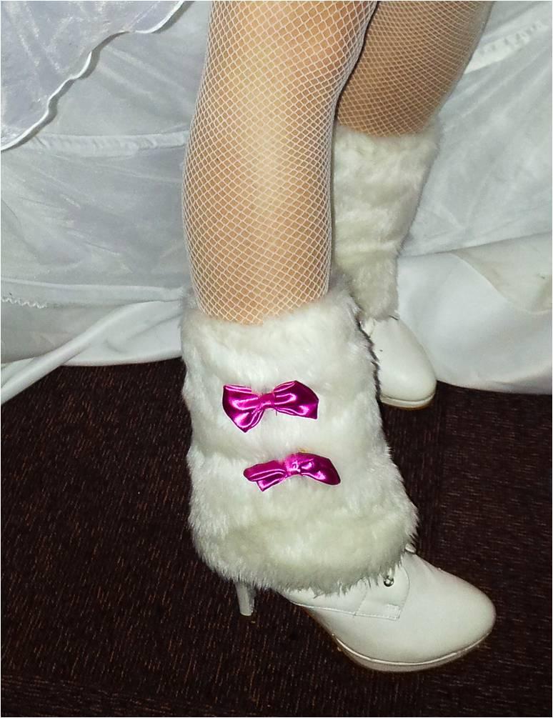 Les bottines de mon mariage enneigé