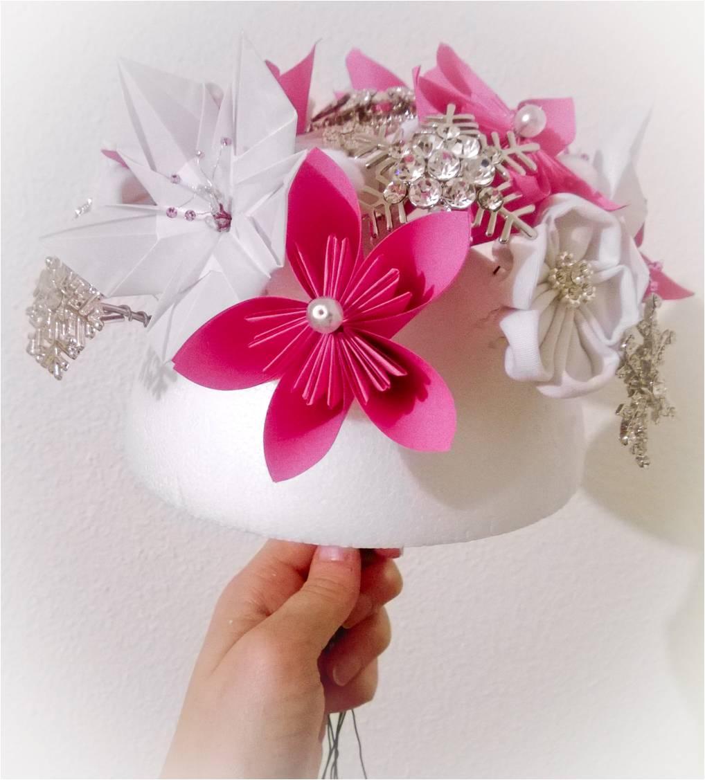 Réalisation de mon bouquet DIY pour mon mariage enneigé
