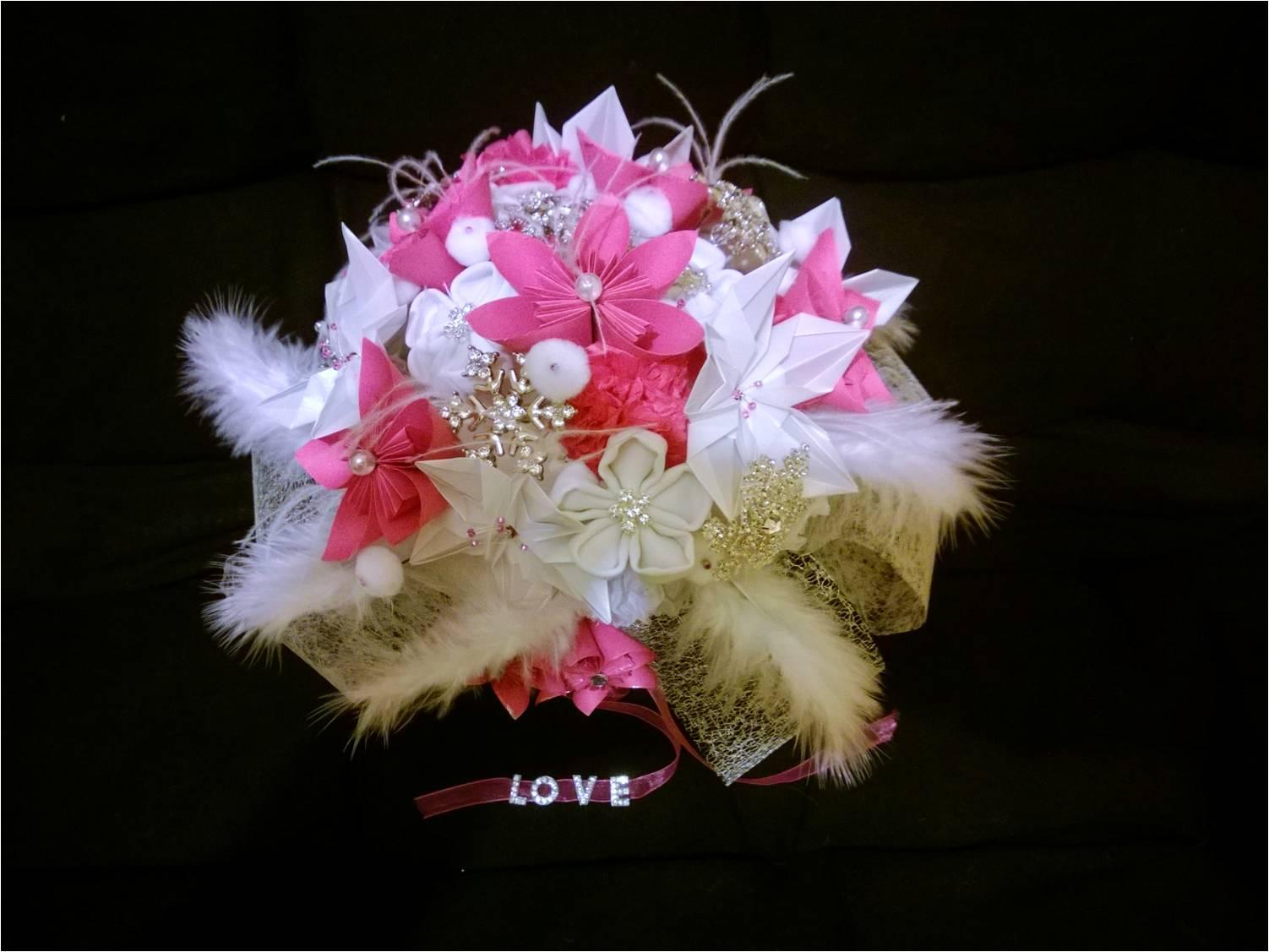 Le bouquet DIY de mon mariage enneigé
