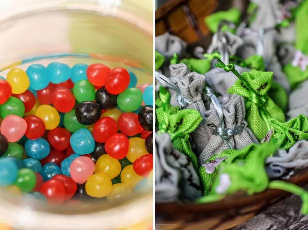 candy bar dragibus et sachets cadeaux invités
