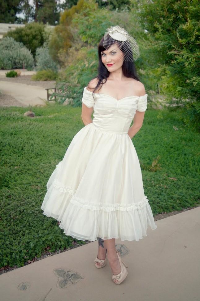 robe de mariée style années 50