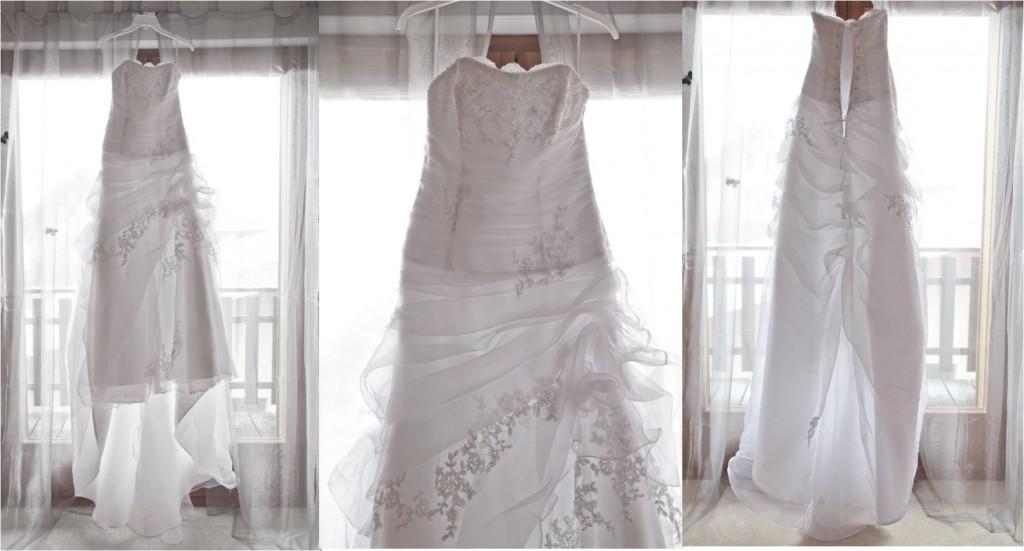 La robe de mon mariage enneigé