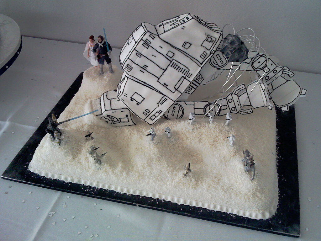 gâteau de mariage Star Wars