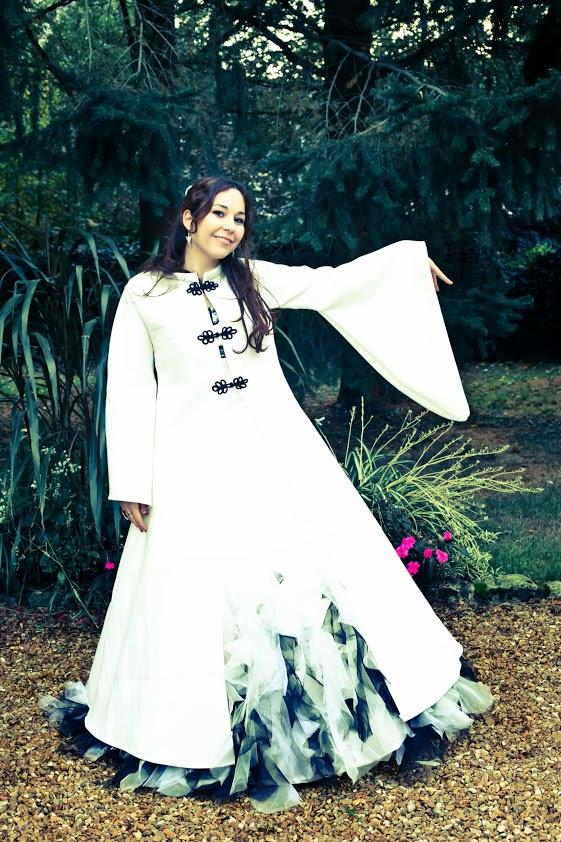 manteau elfique de mariée