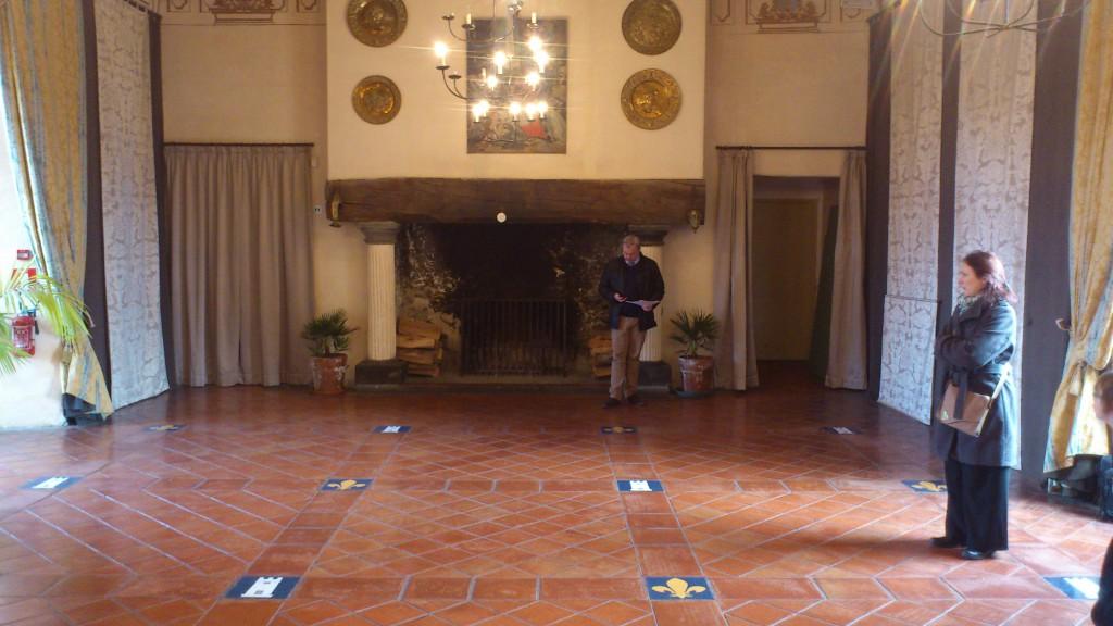 Château futurs mariés salle de réception