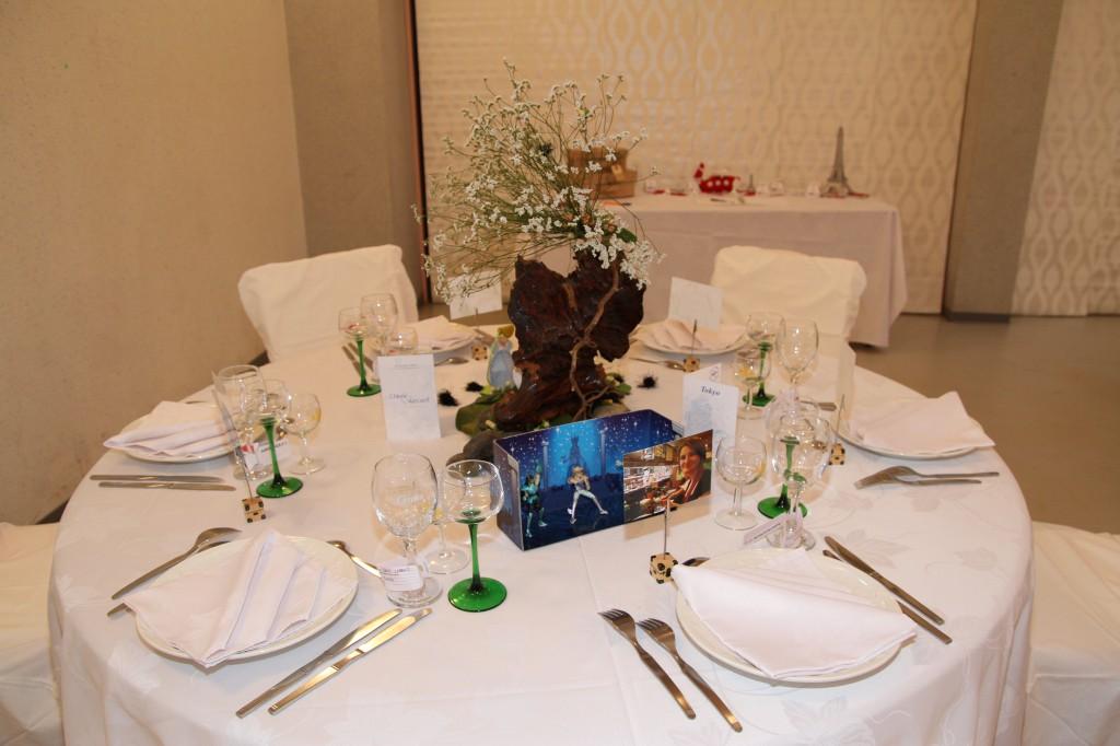 Déco de table thème voyage ville de Tokyo - chevaliers du Zodiaque