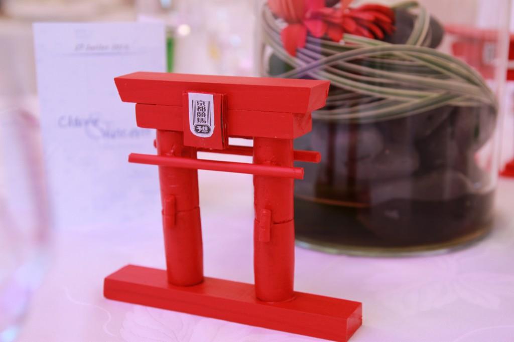 déco de table thème voyages Japon - torii
