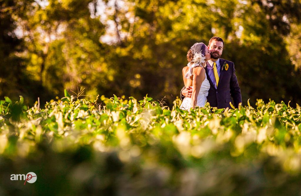 photo de couple mariage dans la verdure