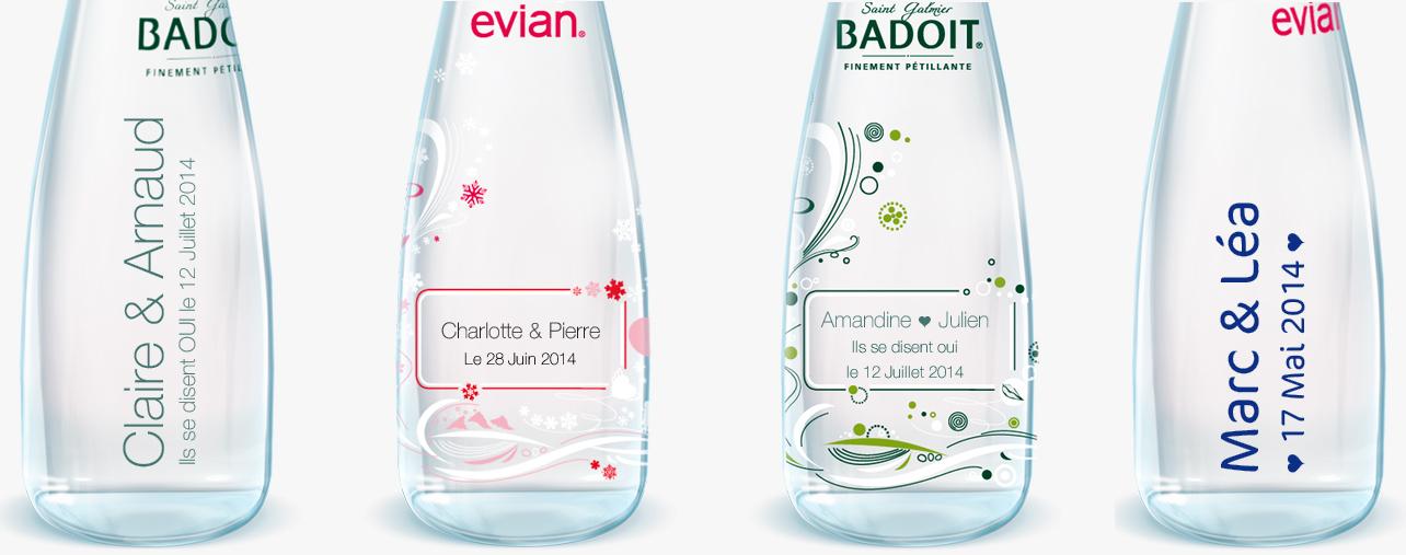Gagne tes bouteilles personnalisées pour ton mariage avec MyEvian !