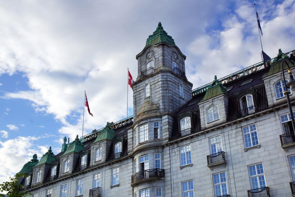 un bâtiment à Oslo