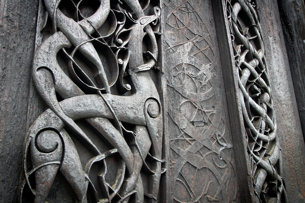 décor sculpté Urnes stravkirke
