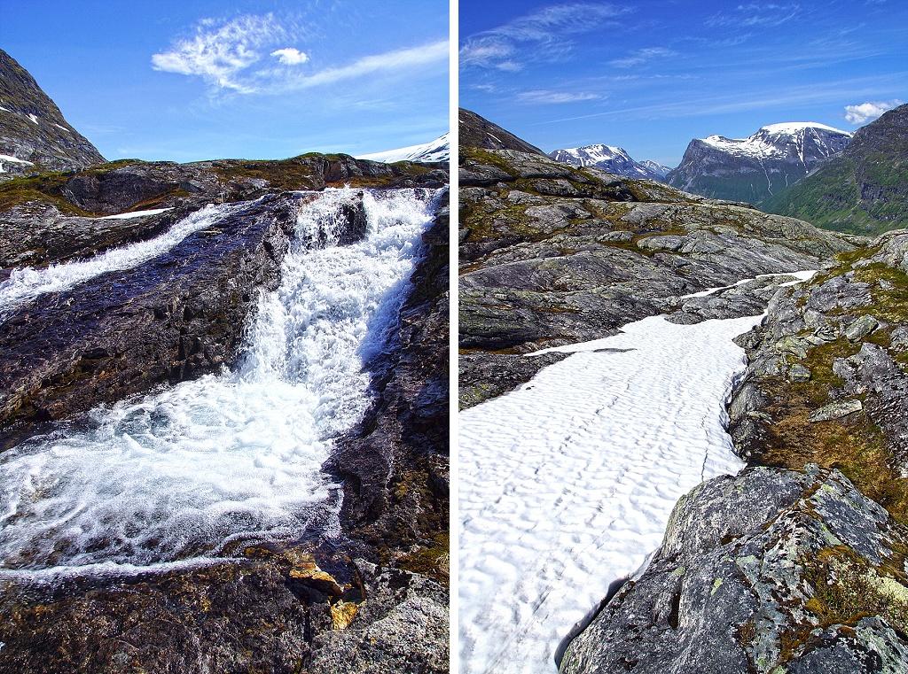 eau et neige - juin en Norvège