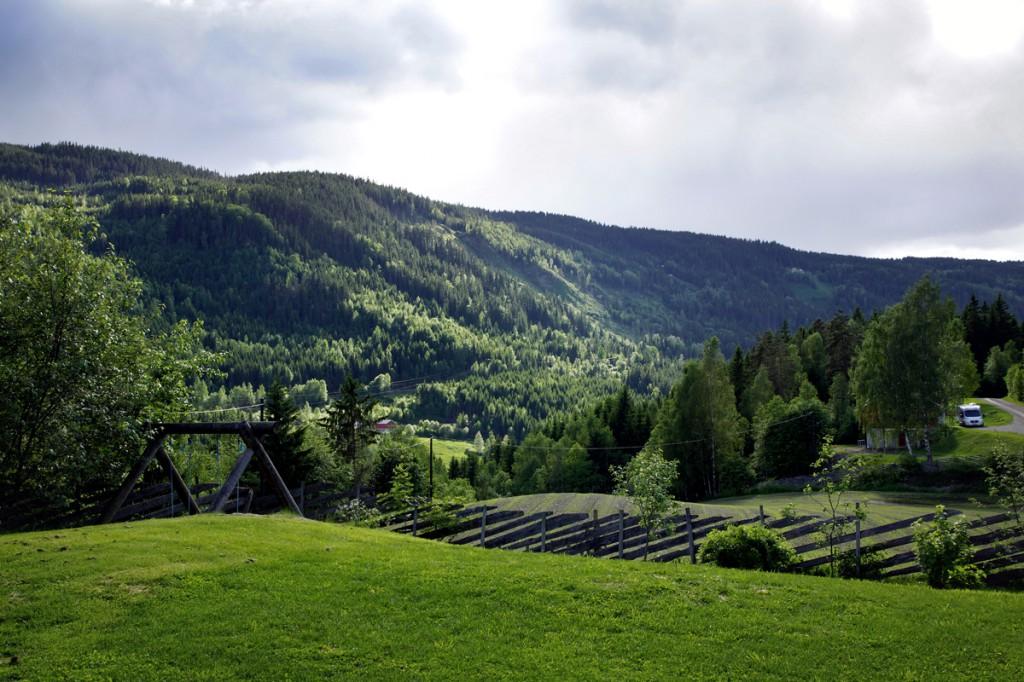 vue depuis Skarsmoen Gard