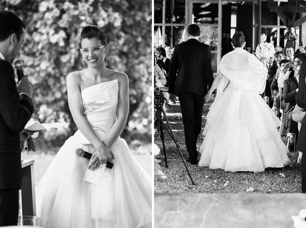 Le mariage chic de Cécile sous le signe de l'émotion