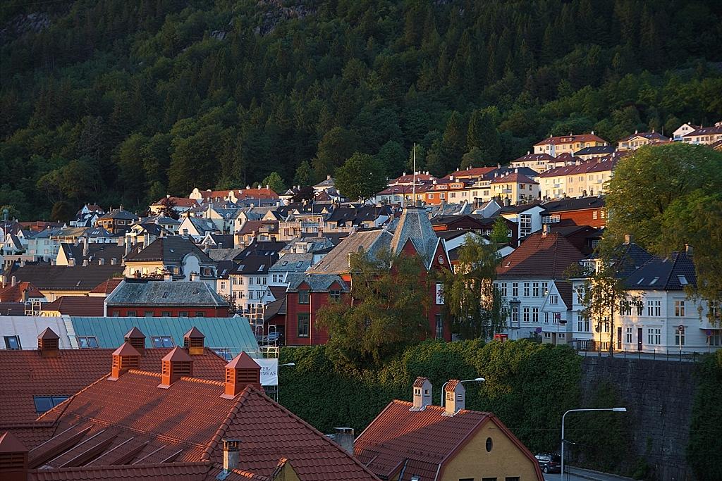 lumière du soir sur Bergen