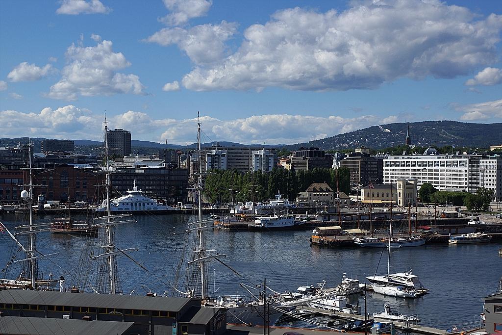 vue sur le port d'Oslo