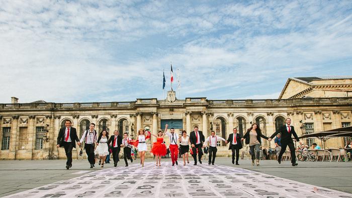 mariage civil robe rouge