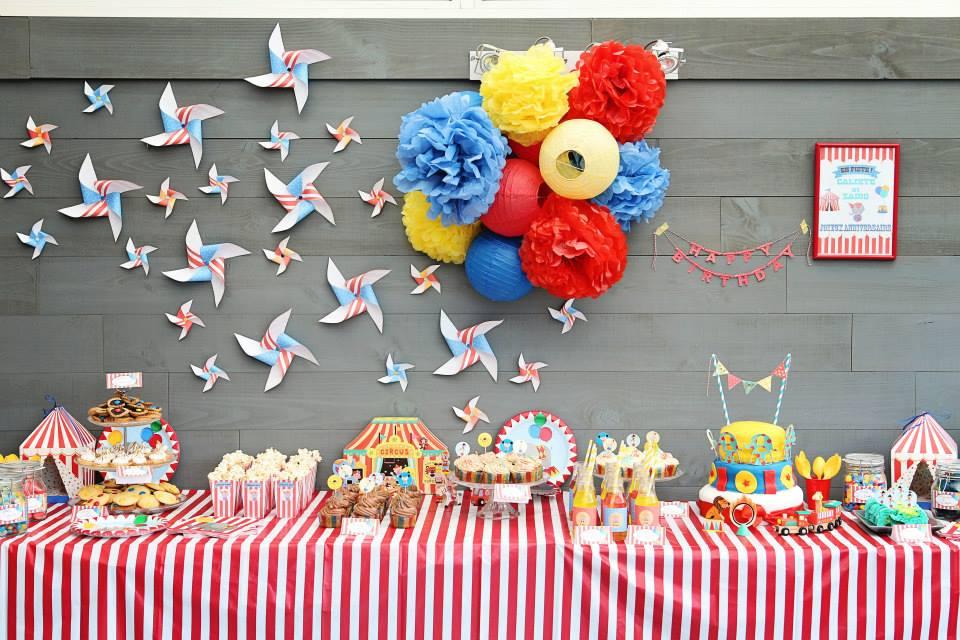 décoration buffet anniversaire enfant