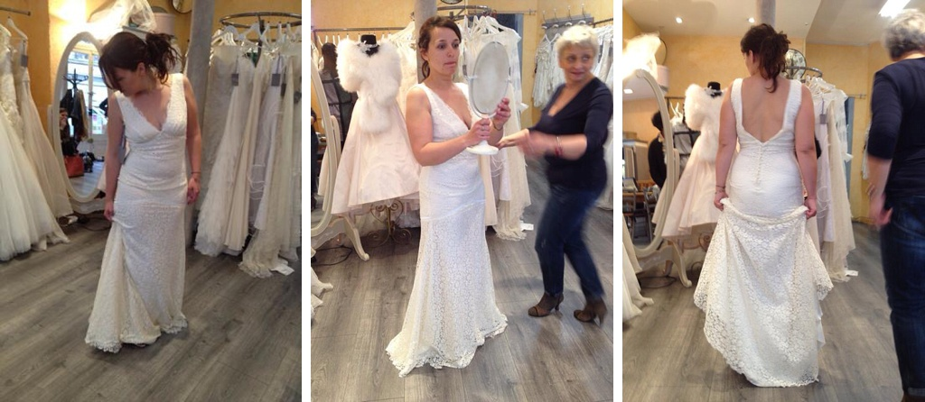 essayages robe mariée occasion sirène