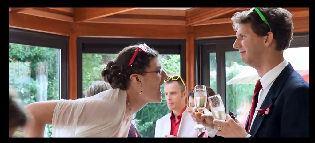 la mariée a faim!