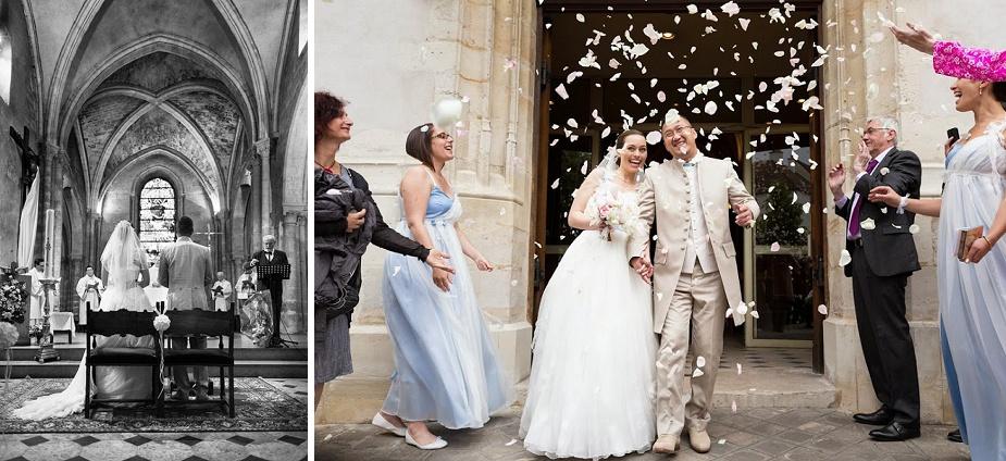 cérémonie mariage - sortie d'église