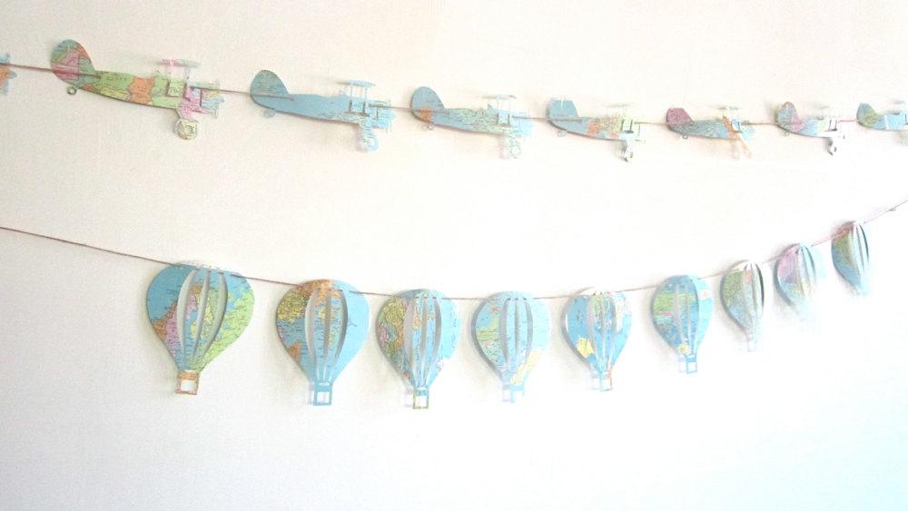 guirlande montgolfières avions