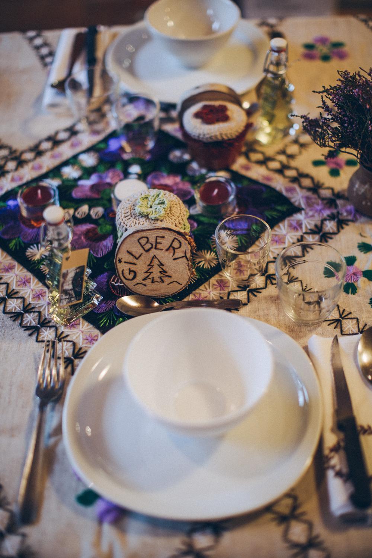 Notre mariage simple et convivial à la montagne : la soirée au gîte, côté décoration