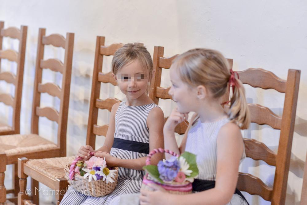 Retour d'expérience : faire soi-même sa décoration florale avec des fleurs du jardin // Les paniers pour les demoiselles d'honneur