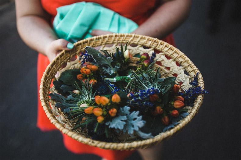 Fleurs séchées pour lancer sur les mariés