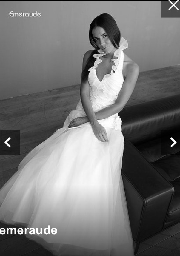 Mes essayages de robe plus d'un an à l'avance : modèle Emeraude