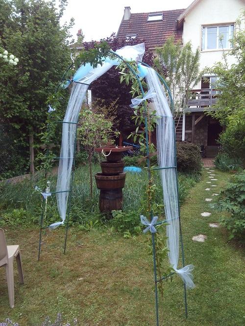 Déco de l'arche pour l'entrée des festivités
