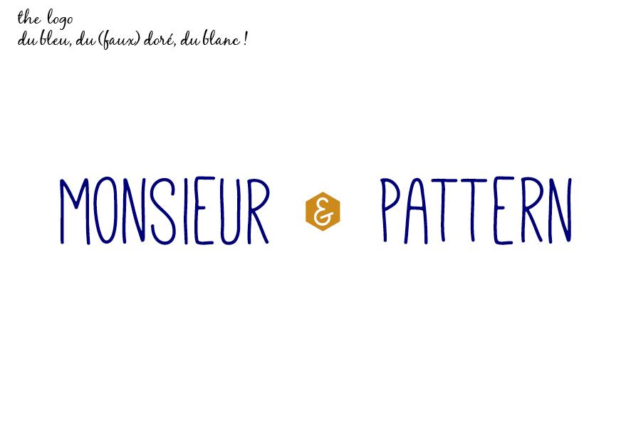 Logo mariage Monsieur & Mlle Pattern