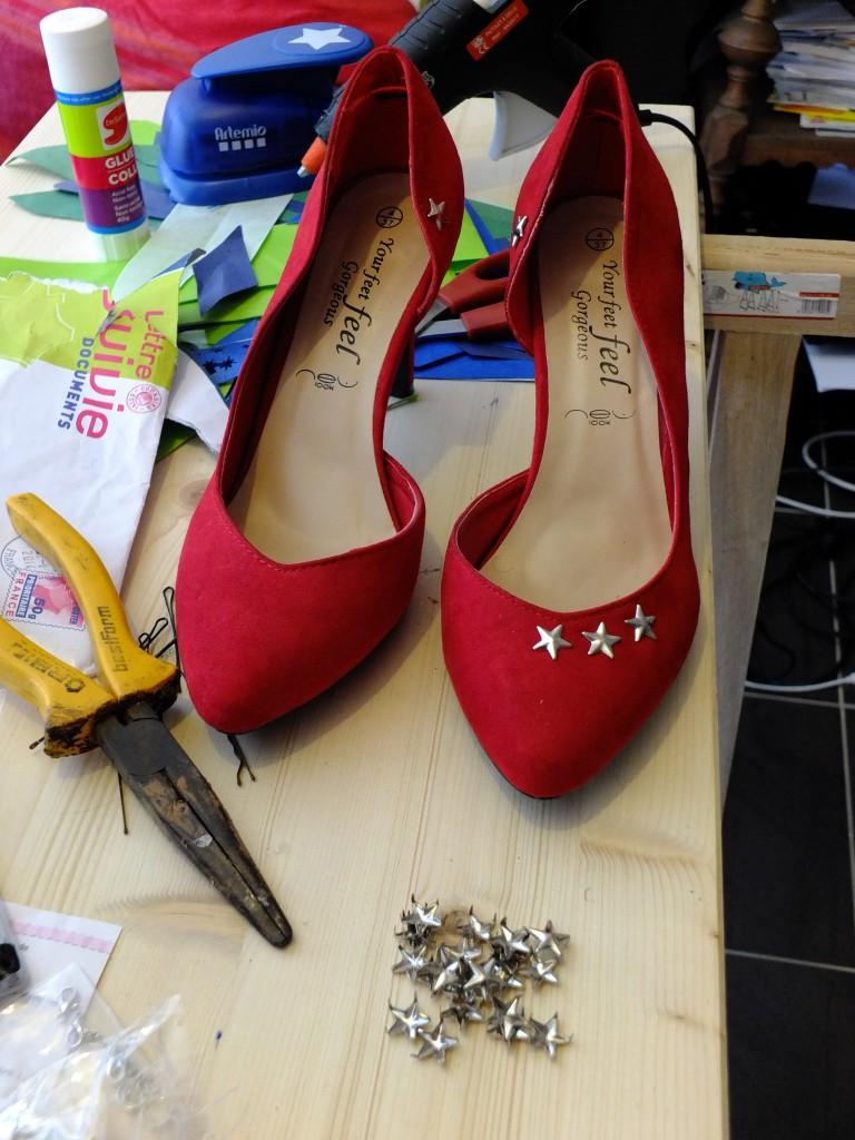DIY : des chaussures étoilées !