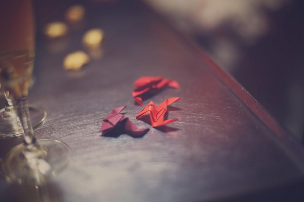Mes grenouilles en origami / photo : BabouchKAtelier
