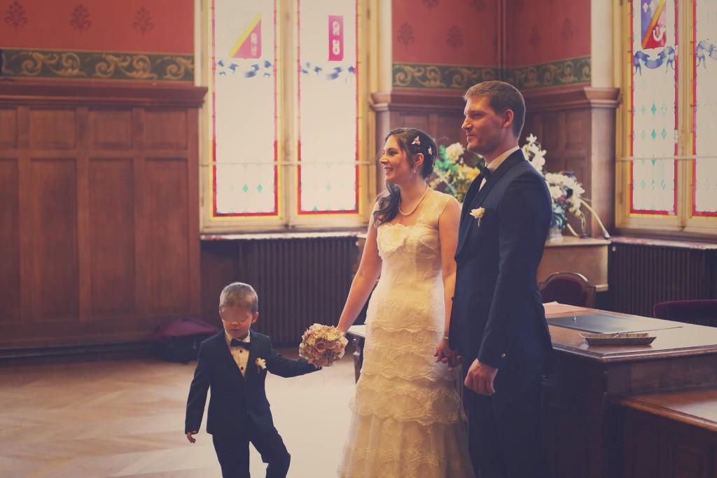 L'échange des consentements // Mon mariage en hiver et en origami : notre cérémonie civile entre rires et émotions