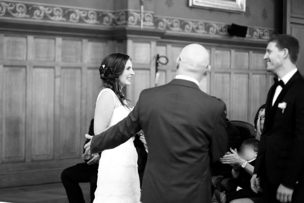 La découverte des mariés ! // Mon mariage en hiver et en origami : notre cérémonie civile entre rires et émotions