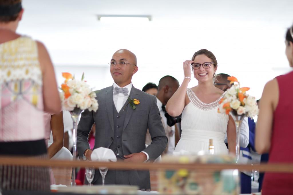L'entrée des mariés dans la salle // Photo : Ymagoo