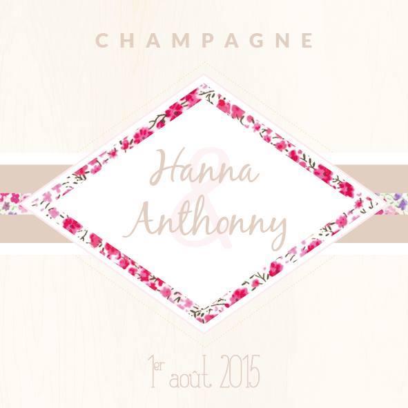 Etiquettes de champagne personnalisées