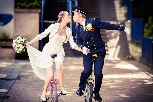 Nos photos de couple en monocyle ! // Photo : Edouard Gasche