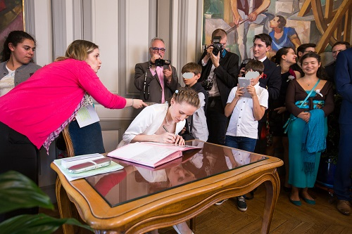 La cérémonie à la mairie de notre mariage // Photo : Edouard Gasche