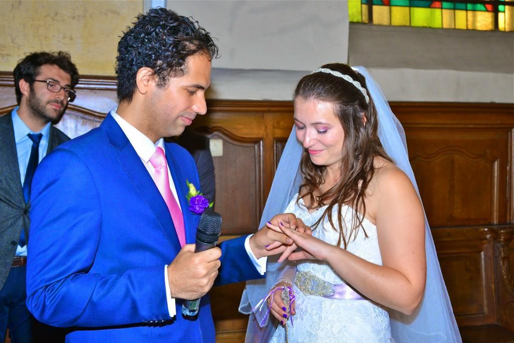 Le mariage de Mme Potter sur le thème des oiseaux en violet, blanc et argent (18)