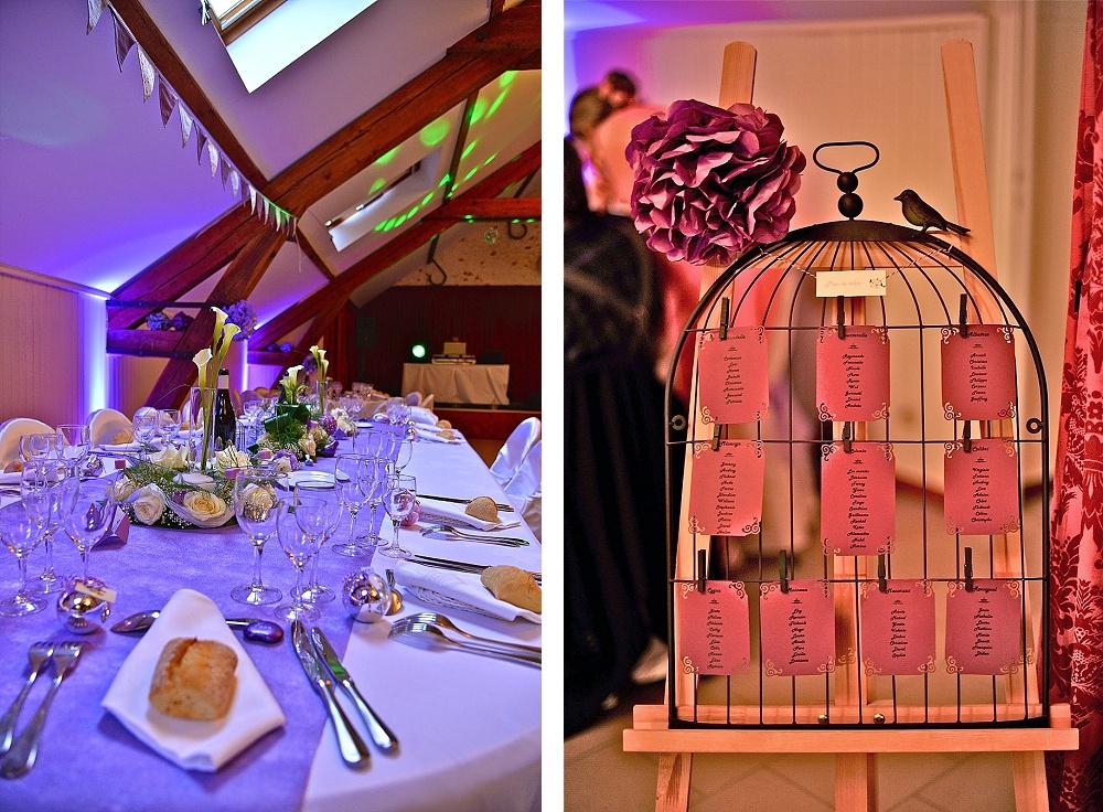 Le mariage de Mme Potter sur le thème des oiseaux en violet, blanc et argent (25)