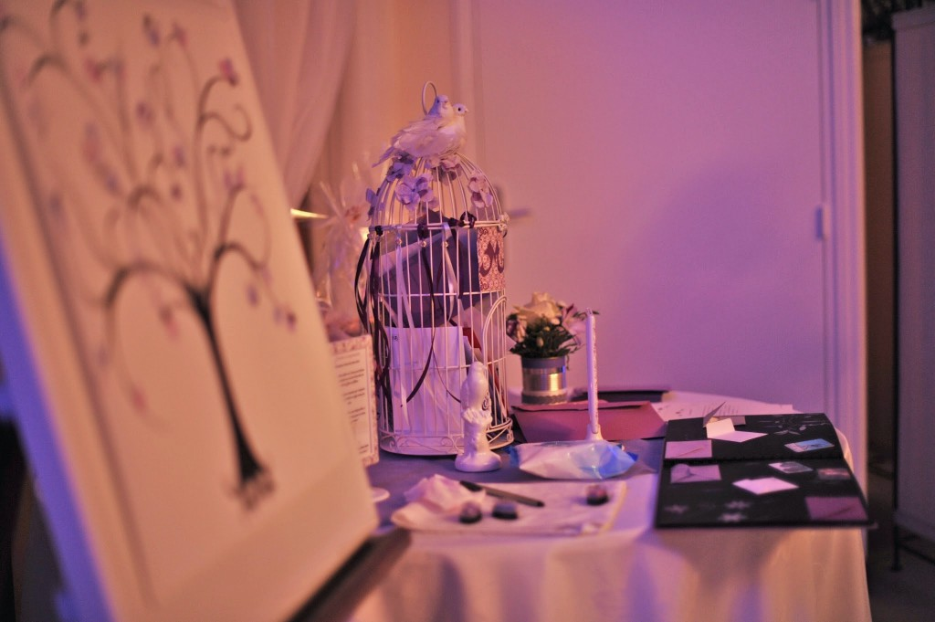 Le mariage de Mme Potter sur le thème des oiseaux en violet, blanc et argent (26)