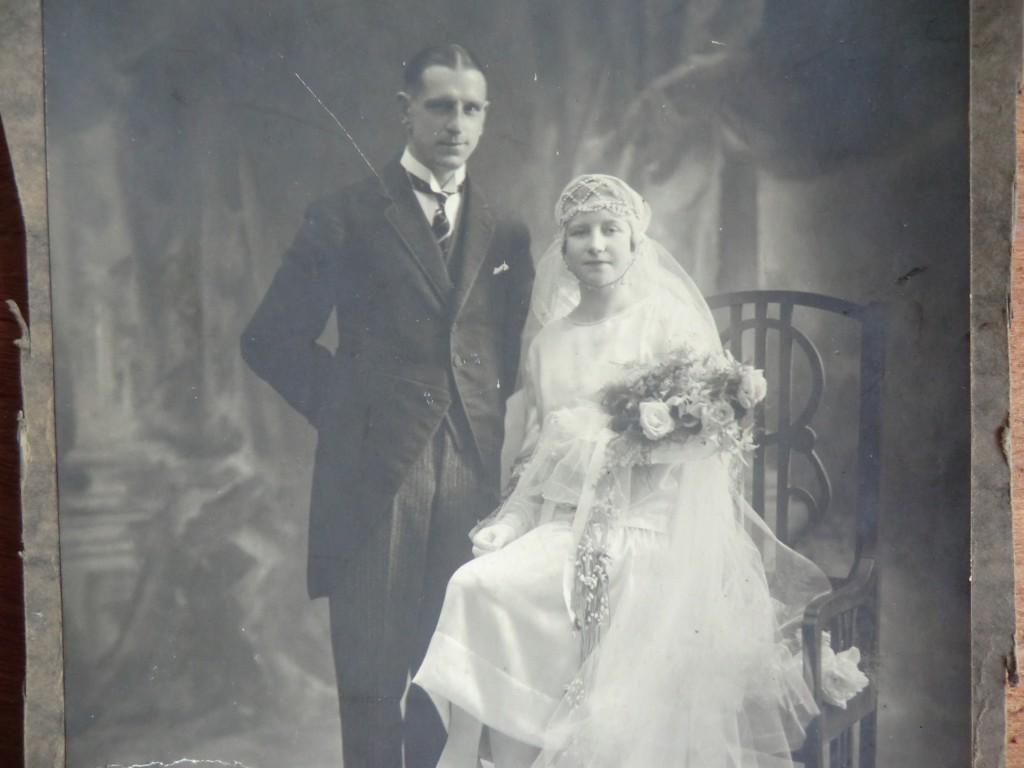 Photo de mariage des arrière grands parents de Mlle Peps