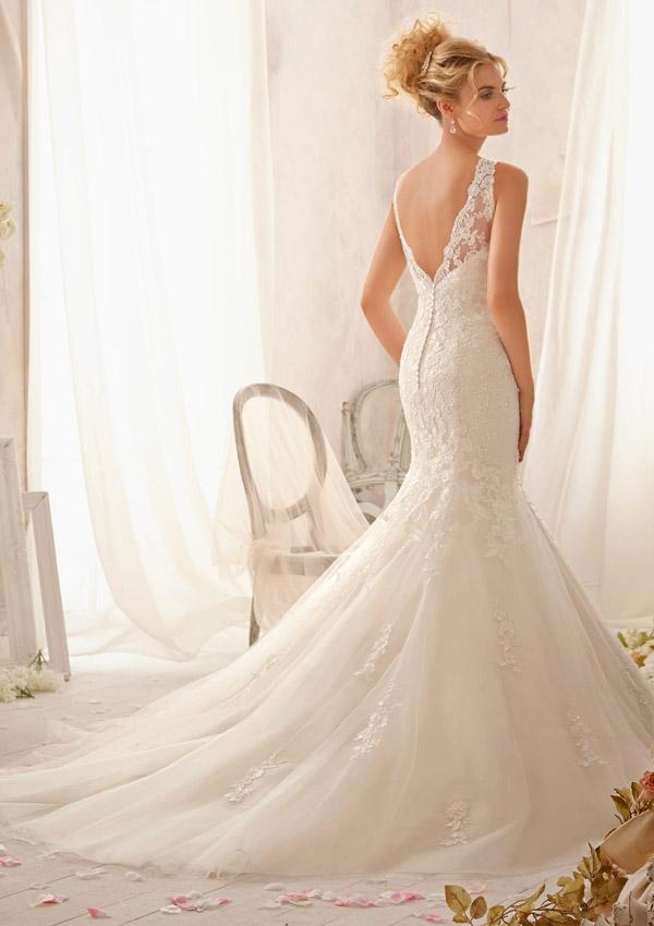 robe de mariée trompette en dentelle