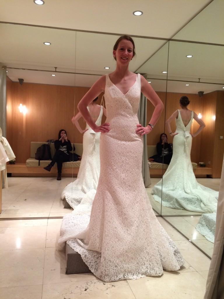 Mes essayages dans la boutique Pronovias à Paris - Robe Maricel