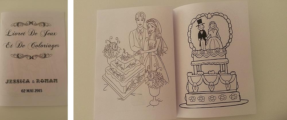 Un livret de coloriage pour occuper les enfants pendant le mariage !