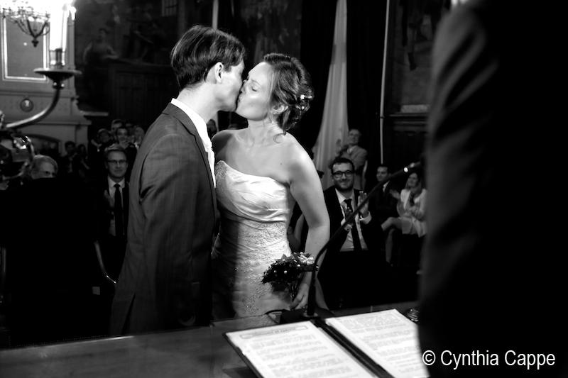La cérémonie à la mairie // Photo : Cynthia Cappe
