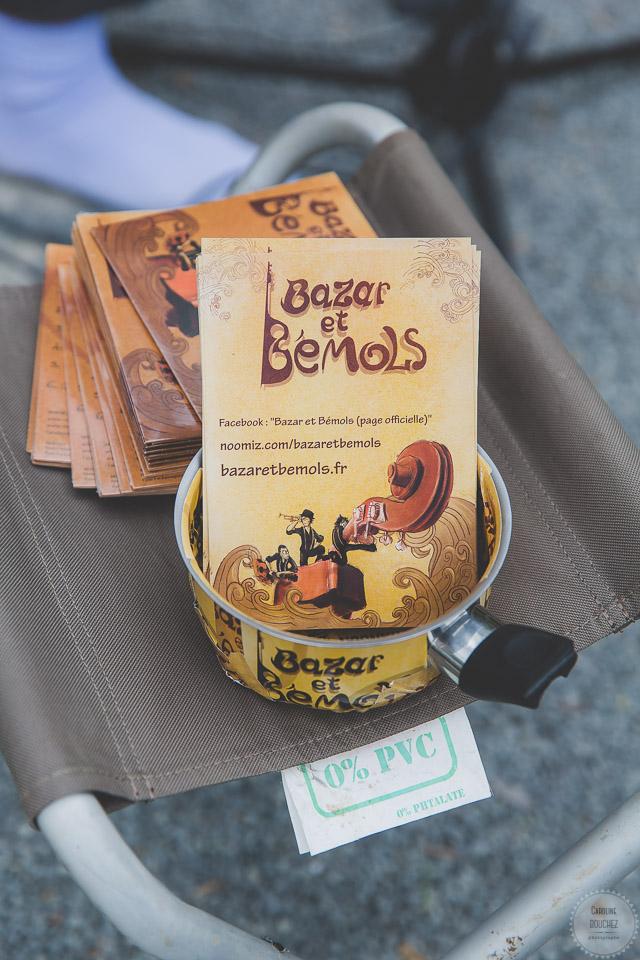 L'animation au vin d'honneur avec Bazars & Bémols // Photo : Caroline Bouchez