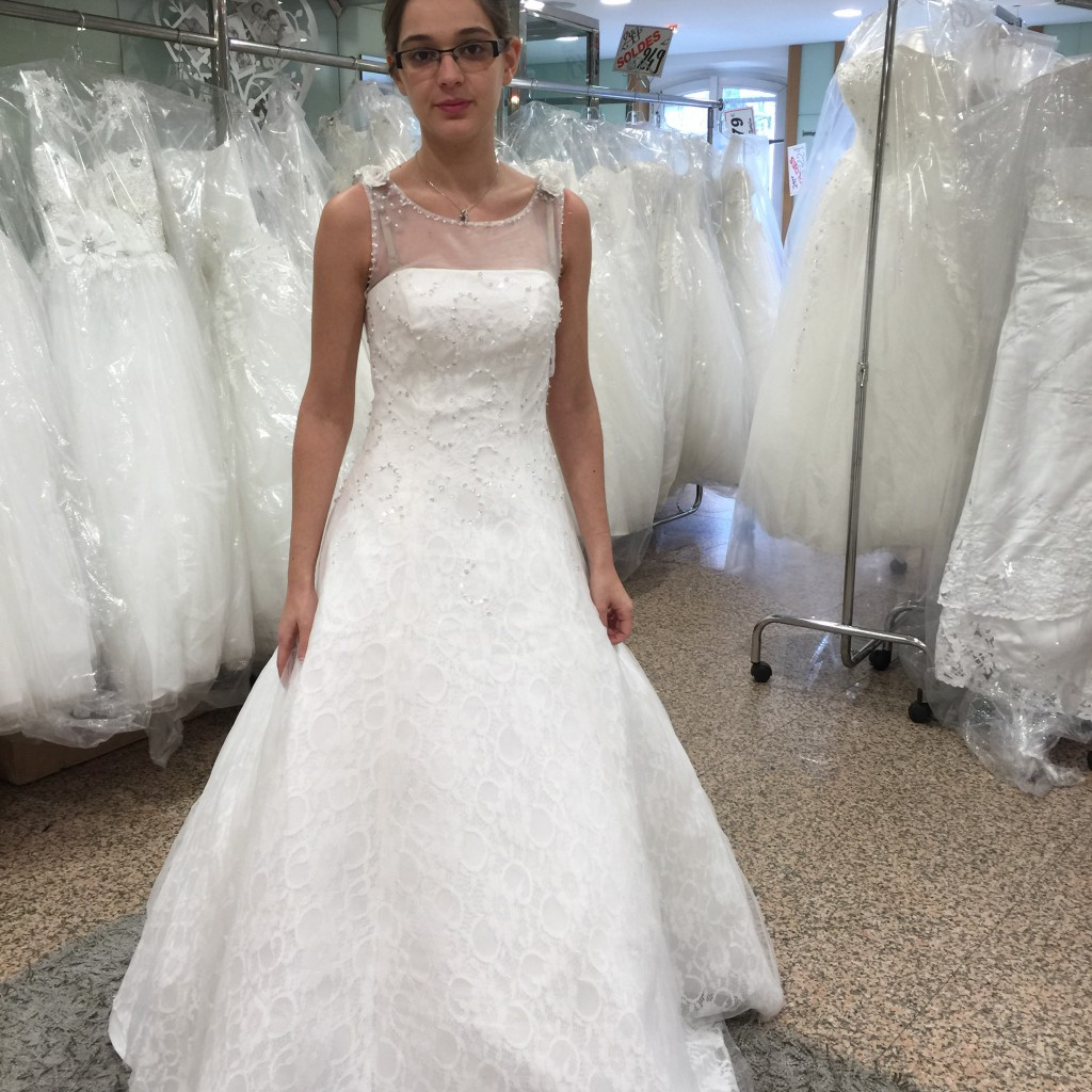 Les recherches de ma robe Boulevard Magenta